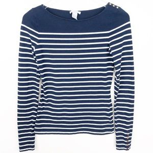 H&M l Long Sleeve Striped Top